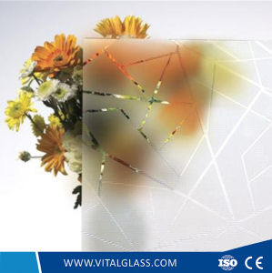 Grey Colored Coated Glass - Acid Etched Glass pictures & photos