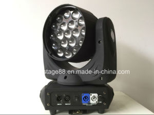 19 12W RGBW LED Beam Zoom Moving Head DJ Light pictures & photos