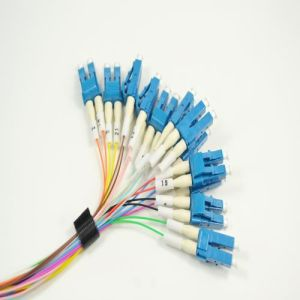 LC to LC 12 Cores Fiber Optic Breakout Patch Cord pictures & photos