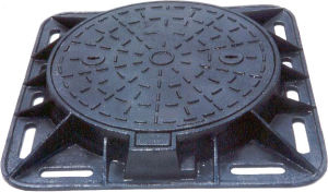 En124 D400 Cast Iron Manhole Cover pictures & photos