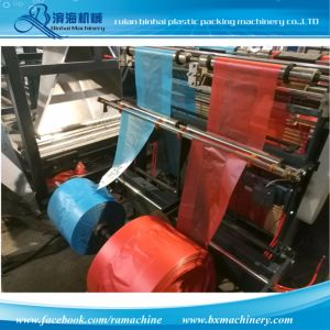 Automatic T-Shirt Plastic Carry Bag Making Machine pictures & photos