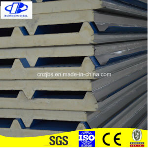 Decoration Steel Sheet PU Foam Sandwich Panel for Metal Building pictures & photos
