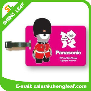 Cartoon Lovely Soft PVC Rubber Luggage Tag (SLF-LT064)