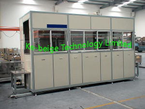PLC Automatic Ultrasonic Cleaning Machine with Single Robot Arm pictures & photos