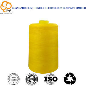 High-Tenacity Dyed 100% Polyester Textile Sewing Thread Fabric Use pictures & photos