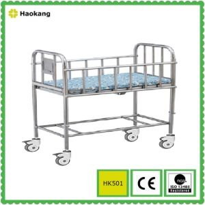 Hospital Furniture for Stainless Steel Medical Baby Cot (HK501) pictures & photos