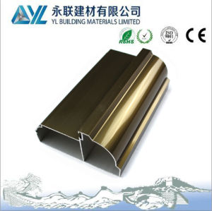 Champagne Anodized 6063 T5 Aluminum Profile for Windows and Doors pictures & photos