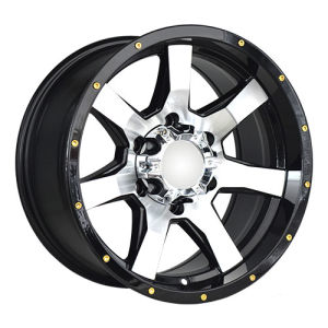 Machine Thick Spokes Silver Caps Alloy Wheels pictures & photos