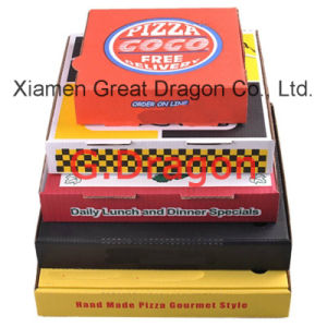 Locking Corners Pizza Box for Stability and Durability (PIZZ001) pictures & photos
