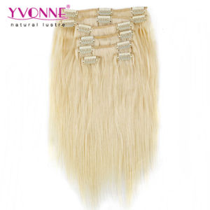 Color #613 Human Hair Clip in Hair Extension pictures & photos