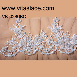 Ivory Rayon & Polyester Wedding Lace Trim Factory Vb-0286bc
