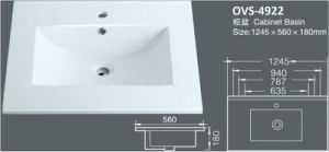 Above Counter Bathroom Cabinet Sink/Washbasin with Cupc/Ce (A-4922) pictures & photos