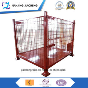 Warehouse Stackable Folding Metal Wire Mesh Pallet Bin for Sales pictures & photos
