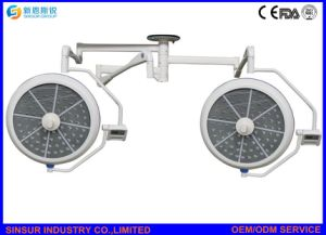 China Qualified Hospital Two Heads Ceiling LED Operating Surgical Light pictures & photos