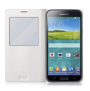 Window Style PU Leather Phone Case for Samsung S4/I9500