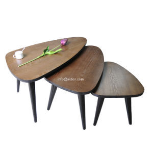 (SD-5547) Luxury Hotel Restaurant Public Furniture Wooden Center Table 3 in 1 Coffee Table pictures & photos