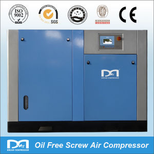 Water Lubricated Looking Electric Oil-Less Oil Free Rotary Screw Air Compressor pictures & photos