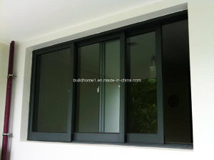Triple Track Sections Aluminium Sliding Windows Prices pictures & photos