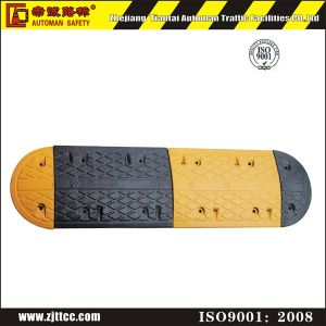 Black & Yellow Traffic Safety Car Speed Safety Rubber Humps (CC-B02) pictures & photos