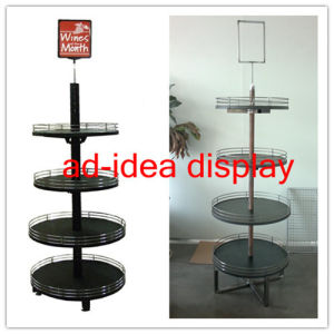 Wooden Round Display Stand for Wine pictures & photos