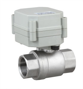 NSF 2 Way Electric Motorized Stainless Steel Water Ball Valve Motor Flow Valve (T20-S2-A) pictures & photos