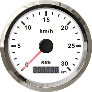 85mm Kus Digital GPS Speedometer 0-30km/H with Mating Antenna White Faceplate for Car Motorcycle Universal pictures & photos