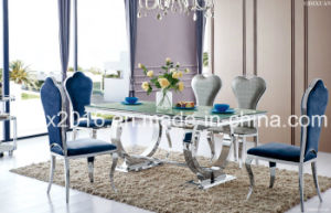 8 People Stainless Steel Frame Dining Table pictures & photos
