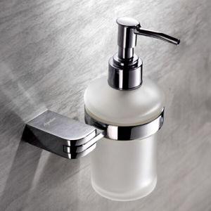 Chrome Finished Brass Liquid Soap Dispenser Holder