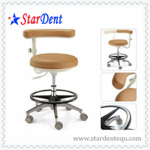 Real Leather Dentist Stool of Medical Supply pictures & photos