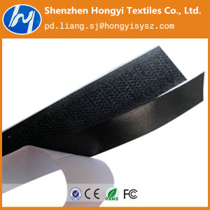 Eco-Friendly Heat Melt Glue Adhesive Hook & Loop Velcro Tape pictures & photos