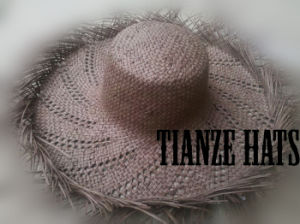 Brown Twist Paper Straw Hat Body pictures & photos