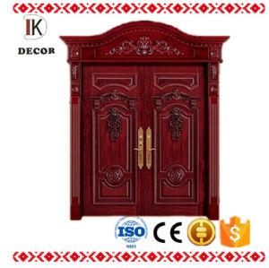 Solid Wood Door Material and Entry Doors Type Arch Wooden Door