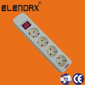 4-Way European 10/16A Extension Cord with Switch (E5004ES) pictures & photos