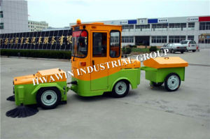 Ride-on Diesel Fuel Road Cleaning Sweeper Machine pictures & photos