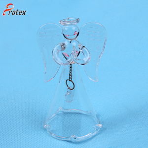 Hand Blown Transparent Glass Christmas Glass Bell for Decoration pictures & photos