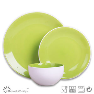 Green High Quality Crockery Stoneware Dinner Set pictures & photos