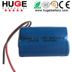 High Quality 3.7V Li-ion Battery Icr14430 pictures & photos