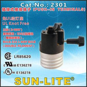 E26 Turn Knob Lamp Holders, E26 3-Way Turn Knob Lamp Holders pictures & photos
