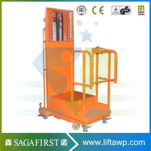 Foot Panel Control Electric Vertical Welding Lift Platform Aerial Oderpicker pictures & photos