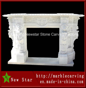 Indoor Natural Marble Fireplace Surround Antique Stone Fireplaces (NS-1202) pictures & photos