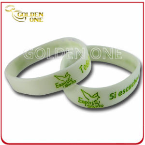 Promotion Gift Custom Glow in The Dark Silicone Bracelet pictures & photos