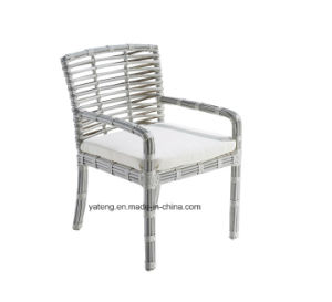 Great Waterproof Outdoor Durable Dining Table with Big Synthetic Rattan Woven Chair (YT663) pictures & photos