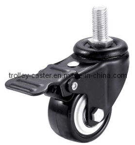 2.5 Inch Light Duty PU Caster Wheel with Brake/E-Coating Bracket pictures & photos