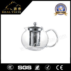 New Heat Resistant Clear Glass Teapot with Infuser Flower/Green/Black Tea Pot pictures & photos