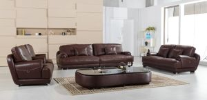 Pinyang 2015 New Design Living Room Furniture / Luxury Leather Sofa pictures & photos
