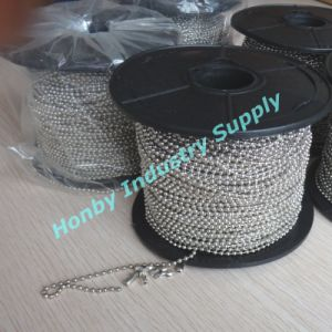 Wholesale Spool Packing 2.4mm Silver Ball Metal Bead Chain pictures & photos