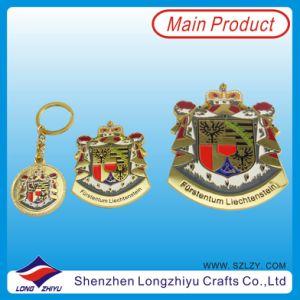 Royal Gold Brass 3m Adhesive Nameplates Label Keyring Decoration Emblem pictures & photos