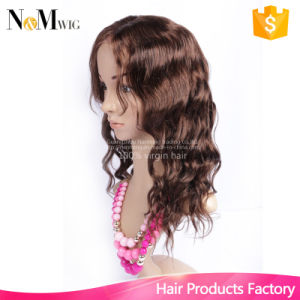 Free Middle Three Part Lace Wig New Style Brazilian Lace Front Wig, Made Method Half Machine Made & Half Hand Tied pictures & photos