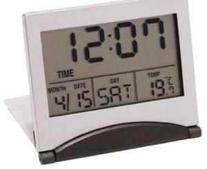 Foldable LCD Travel Alarm Clock, Measures 7 X 6 X 1.5cm pictures & photos