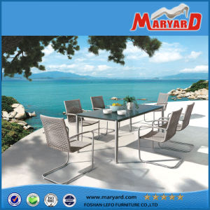 Best Seller Simple Modern Design Rattan Outdoor Dining Set Beautiful Balcony Furniture pictures & photos